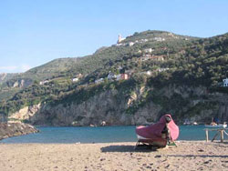 liitle beach of vico equense